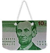 1965 Rwanda Abraham Lincoln Stamp Weekender Tote Bag