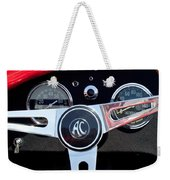 1965 Shelby Ac Cobra Roadster 289 Steering Wheel Emblem Weekender Tote Bag