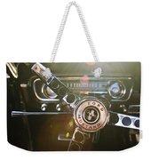 1965 Shelby Prototype Ford Mustang Steering Wheel Emblem Weekender Tote Bag by Jill Reger