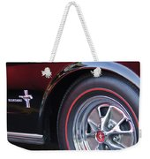 1965 Shelby Prototype Ford Mustang Wheel And Emblem Weekender Tote Bag