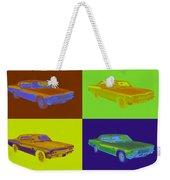 1966 Chevrolet Caprice 427 Muscle Car Pop Art Weekender Tote Bag