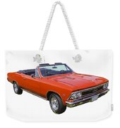 1966 Chevrolet Chevelle Convertible 283  Weekender Tote Bag
