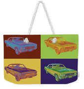 1966 Chevy Chevelle Ss 396 Car Pop Art Weekender Tote Bag