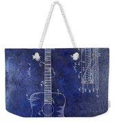 1966 Fender Acoustic Guitar Patent Drawing Blue Weekender Tote Bag