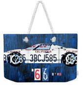 1966 Ford Gt40 License Plate Art By Design Turnpike Weekender Tote Bag