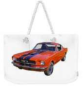 1966 Ford Mustang Fastback Weekender Tote Bag