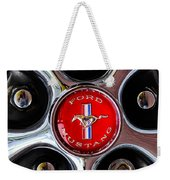 1966 Ford Mustang Gt Wheel Emblem Weekender Tote Bag