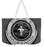 1966 Ford Mustang Shelby Gt 350 Emblem Gas Cap -0295bw Weekender Tote Bag