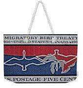 1966 Migratory Bird Treaty Stamp Weekender Tote Bag