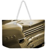 1966 Pontiac Gto Tail In Sepia Weekender Tote Bag