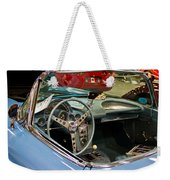 1967 Blue Corvette-interior And Wheel Weekender Tote Bag
