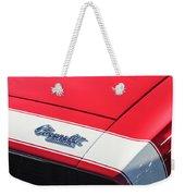 1967 Chevrolet Camaro Ss 350 Convertible Hood Emblem Weekender Tote Bag