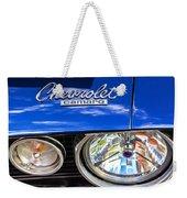 1967 Chevrolet Camaro Ss 350 Headlight - Hood Emblem  Weekender Tote Bag