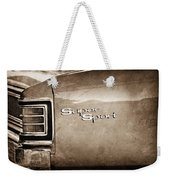 1967 Chevrolet Chevelle Ss Super Sport Taillight Emblem Weekender Tote Bag
