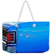 1967 Chevrolet Chevelle Taillight Emblem Weekender Tote Bag