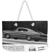 1967 Dodge Charger Weekender Tote Bag