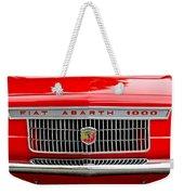 1967 Fiat Abarth 1000 Otr Grille Weekender Tote Bag
