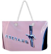 1967 Ford Mustang Side Emblem Weekender Tote Bag