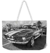 1967 Ford Shelby Mustang Gt500 Painted Bw Weekender Tote Bag