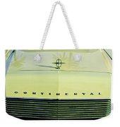 1967 Lincoln Continental Grille Emblem - Hood Ornament Weekender Tote Bag