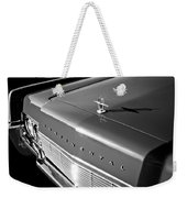 1967 Lincoln Continental Hood Ornament - Emblem -646bw Weekender Tote Bag