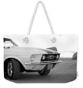 1967 Mustang Front In Black Weekender Tote Bag