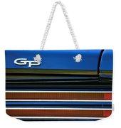 1967 Pontiac Hurst Grand Prix Convertible Taillight Emblem -3584c Weekender Tote Bag