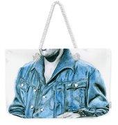 1968 Blue Denim Suit Weekender Tote Bag
