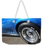 1968 Corvette Sting Ray - Blue - Side - 8923 Weekender Tote Bag