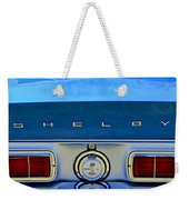 1968 Ford Shelby Gt500 Kr Convertible Rear Emblems Weekender Tote Bag