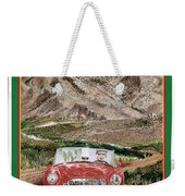 Mountain Rallying In A 1968 M G B  Weekender Tote Bag