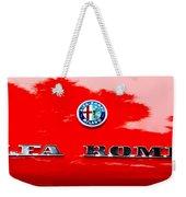1969 Alfa Romeo Spider Veloce Iniezione Emblem Weekender Tote Bag