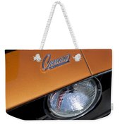1969 Chevrolet Camaro Headlight Emblem Weekender Tote Bag