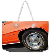 1969 Chevrolet Camaro Rs - Front Quarter Panel - 7552 Weekender Tote Bag
