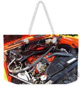 1969 Chevrolet Camaro Rs - Orange - 350 Engine - 7567 Weekender Tote Bag