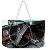 1969 Chevrolet Camaro Rs - Orange - Interior - 7601 Weekender Tote Bag