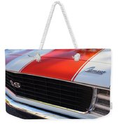 1969 Chevrolet Camaro Rs-ss Indy Pace Car Replica Grille - Hood Emblems Weekender Tote Bag