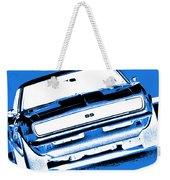 1969 Chevy Camaro Ss - Blue Negative Weekender Tote Bag
