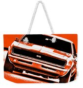 1969 Chevy Camaro Ss - Orange Weekender Tote Bag