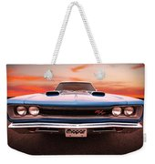1969 Dodge Coronet R/t In B5 Blue Weekender Tote Bag