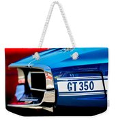 1969 Ford Mustang Shelby Gt350 Grille Emblem Weekender Tote Bag