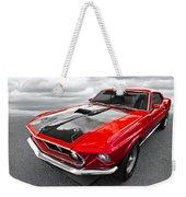 1969 Red 428 Mach 1 Cobra Jet Mustang Weekender Tote Bag