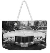 1970 Cadillac Coupe Deville Convertible Painted Bw Weekender Tote Bag