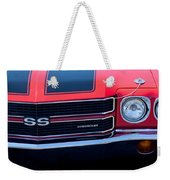 1970 Chevrolet El Camino Ss Grille Emblem Weekender Tote Bag