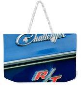 1970 Dodge Challenger Rt Convertible Emblem Weekender Tote Bag by Jill Reger