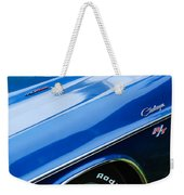 1970 Dodge Challenger Rt Convertible Emblems Weekender Tote Bag