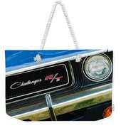 1970 Dodge Challenger Rt Convertible Grille Emblem Weekender Tote Bag by Jill Reger