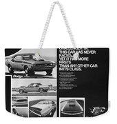 1970 Dodge Challenger T/a Weekender Tote Bag