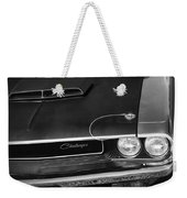 1970 Dodge Challenger T/a In Black And White Weekender Tote Bag
