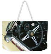 1970 Jaguar Xk Type-e Steering Wheel Weekender Tote Bag